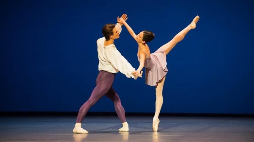 The winners of the Prix de la Danse: Hannah O'Neill and Hugo Marchand