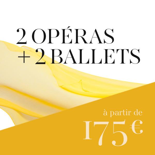 Formule mixte : 2 opéras + 2 ballets