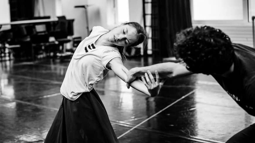 Marion Barbeau en répétition