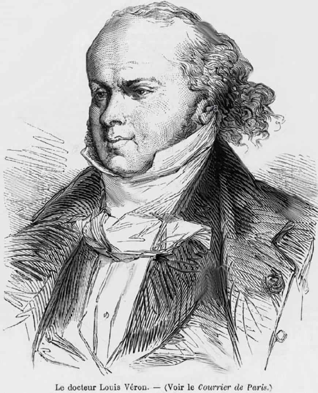 Portrait de Louis-Désiré Véron, parue dans le journal «Le Courrier de Paris»