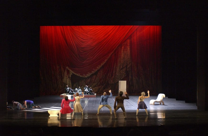 Appartement avec les danseurs du Ballet de l'Opéra de Paris, Palais Garnier, 2002