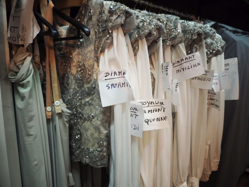 Costumes de Diamants, préparés pour les représentations de Joyaux