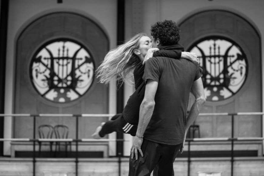 Eleonora Abbagnato et Stéphane Bullion en répétition, Palais Garnier, 2019