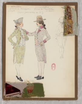 Marcel Mültzer, Maquette de costume de Fernand et Guillaume dans