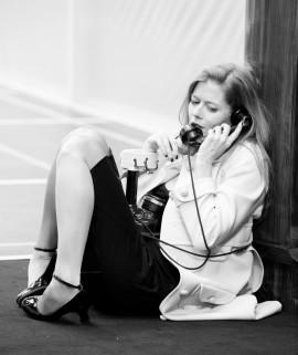 Barbara Hannigan (Elle) pendant les répétitions de La voix Humaine, mise en scène de Krzysztof Warlikowski.*