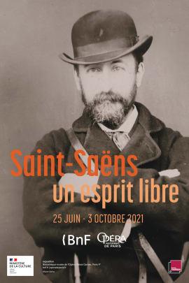 Portrait de Camille Saint-Saëns, vers 1870-1880. Photographie en noir et blanc. BnF, Bibliothèque-musée de l'Opéra.