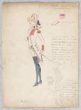 Marcel Mültzer, Maquette de costume pour Chérubin dans