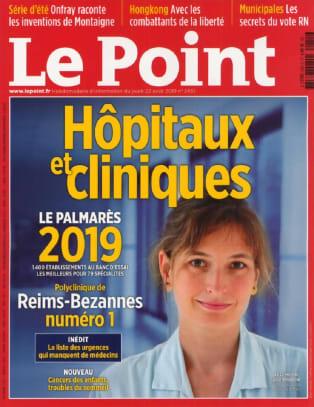 Classement Le Point 2019 : La Clinique Pierre Cherest parmi les meilleures d'Ile-de-France