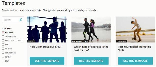quiz maker templates