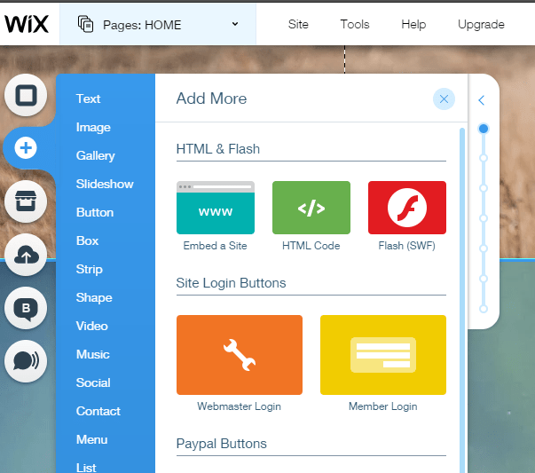 Wix survey dashboard