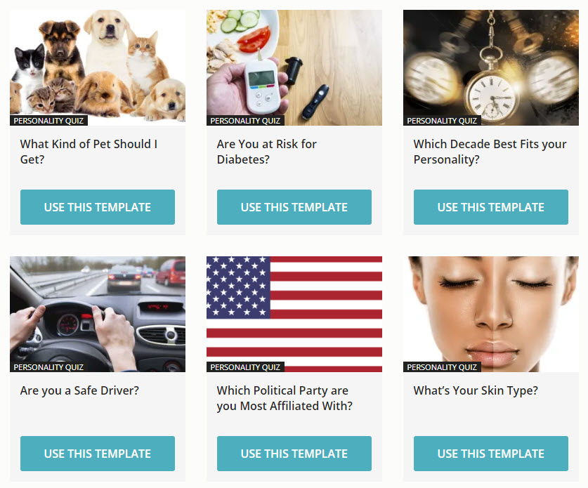 Easy and fast to create interactive content marketing experiences