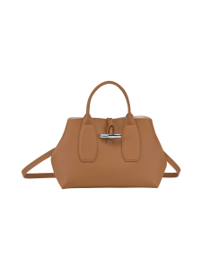 Longchamp - Roseau Top Handle Bag M - Nahkalaukku - NATURAL | Stockmann