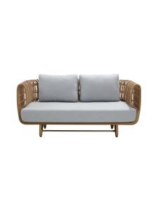 Cane-Line - Nest -kahden istuttava sohva - NATURAL, VAALEAN HARMAA | Stockmann