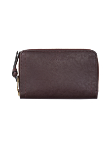 Longchamp - Mailbox - Compact Wallet - Nahkalompakko - AUBERGINE | Stockmann