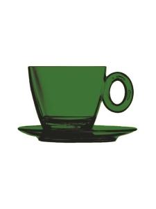 Mepra - Policarbonato-kahvikuppi ja aluslautanen - EMERALD | Stockmann