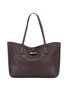 Longchamp - Roseau Essential - Shoulder Bag M - Nahkalaukku - AUBERGINE | Stockmann