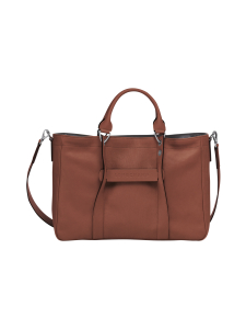Longchamp - Longchamp 3D Top Handle Bag M - Nahkalaukku - COGNAC | Stockmann