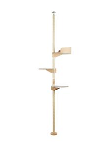 Kissapuu - Kissan Onni kiipeily- ja raapimispuu, tammi & harmaa | Stockmann