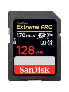 Sandisk - SanDisk Extreme Pro 128GB SDXC (170MB/s) UHS-I (U3 / V30) -muistikortti - null | Stockmann