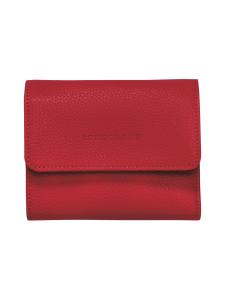 Longchamp - Le Foulonné – Compact Wallet – Nahkalompakko - RED   Stockmann