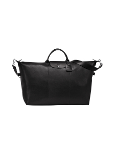 Longchamp - Le Foulonné Travel Bag - Nahkalaukku - BLACK | Stockmann