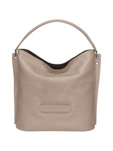 Longchamp - Longchamp 3D Hobo Bag - Nahkalaukku - BROWN | Stockmann
