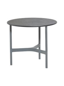 Cane-Line - Twist -sohvapöytä 45 halk x 33 cm - LAVA GREY TUMMA HARMAA, FOSSIL BLACK KUVIOITU MUSTA | Stockmann