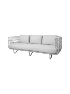 Cane-Line - Nest -kolmen istuttava sohva - VALKOINEN | Stockmann