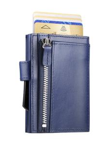 Ögon Designs - Cascade Snap Zipper -luottokorttikotelo - TUMMANSININEN   Stockmann