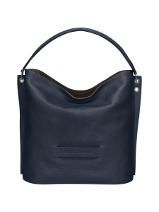 Longchamp - Longchamp 3D Hobo Bag - Nahkalaukku - MIDNIGHT BLUE | Stockmann