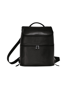 Longchamp - Le Foulonné Backpack - Reppu - BLACK | Stockmann