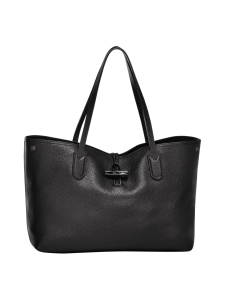 Longchamp - Roseau Essential - Shoulder Bag M - Nahkalaukku - BLACK | Stockmann