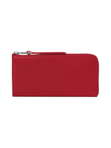 Longchamp - Le Foulonné - Long Zip Around Wallet - Nahkalompakko - RED | Stockmann