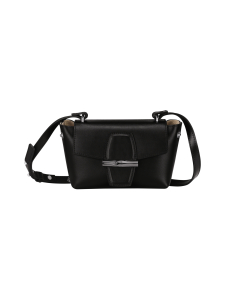 Longchamp - Roseau Box - Crossbody Bag S - Nahkalaukku - BLACK | Stockmann