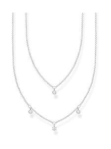 Thomas Sabo - Thomas Sabo Double White Stones Silver -kaulakoru | Stockmann