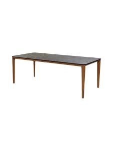 Cane-Line - Aspect-ruokapöytä 210 x 100 x 72 cm - TEAK, MUSTA FOSSIILIKUVIOITU | Stockmann