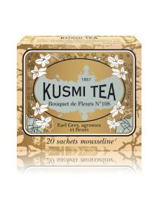 Kusmi Tea - Musta Tee Bouquet de Fleurs Nº108 Pussi (20kpl) 44g | Stockmann