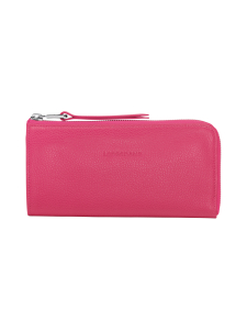 Longchamp - Le Foulonné - Long Zip Around Wallet - Nahkalompakko - PINK | Stockmann