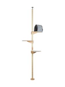 Kissapuu - Kissan Unelma kiipeily- ja raapimispuu, tammi & harmaa | Stockmann