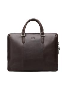 MMV Bags - Luton Briefcase -nahkasalkku - CHOCOLATE (TUMMANRUSKEA) | Stockmann