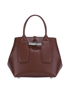 Longchamp - Roseau Box - Cube Bag - Nahkalaukku - MAHOGANY | Stockmann