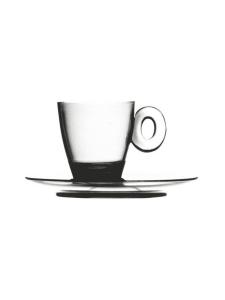 Mepra - Policarbonato-espressokuppi ja aluslautanen - TRANSPARENT   Stockmann