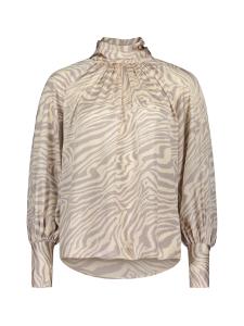 Vejits - Pystykaulus zebra silkkisatiini printtipaita - BEIGE | Stockmann