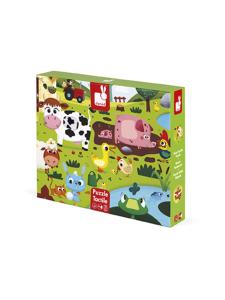 Janod - JANOD Maatilan eläimet tunnustelupalapeli | Stockmann
