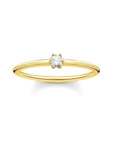 Thomas Sabo - Thomas Sabo Ring White Stone Gold -sormus   Stockmann