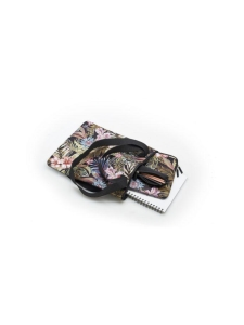 TRUNK - Carryall -kantokassi - Floral - MUSTA | Stockmann