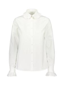 Gauhar Helsinki - Ruffled trim paitapusero valkoinen - VALKOINEN | Stockmann