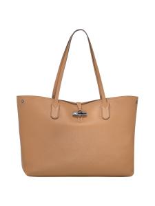 Longchamp - Roseau Essential - Shoulder Bag L - Nahkalaukku - NATURAL   Stockmann
