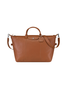 Longchamp - Le Foulonné Travel Bag - Nahkalaukku - CARAMEL | Stockmann