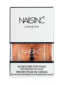 NAILS INC - 45 Second Top Coat with Kensington Caviar -päällyslakka 14ml   Stockmann